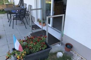Seuil et appuis pour passage sur terrasse